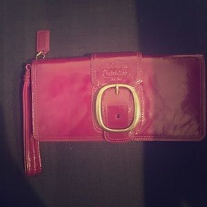 Coach Patent Leather Wallet Clutch